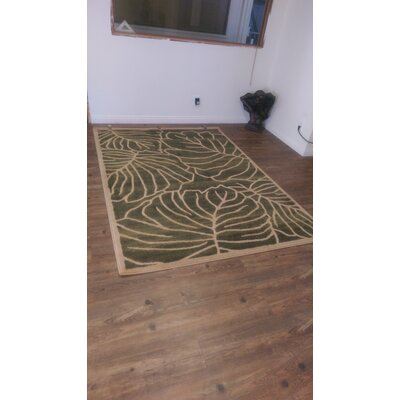 Grazyna Green Area Rug
