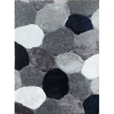 Claytor Modern Hand-Tufted Gray Indoor Area Rug Rug Size: Rectangle 5 x 7