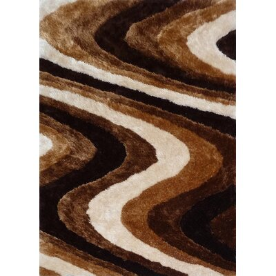 Silvestre Hand-Tufted Brown Area Rug Rug Size: Rectangle 5 x 7