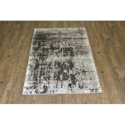 Fusion Silver/Gray Area Rug Rug Size: 8 x 11