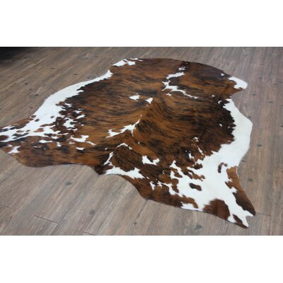 Thurso Hand-Woven Cowhide Brown Area Rug