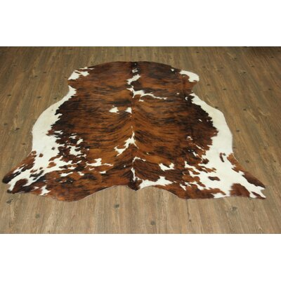 Tisbury Hand-Woven Cowhide Brown Area Rug