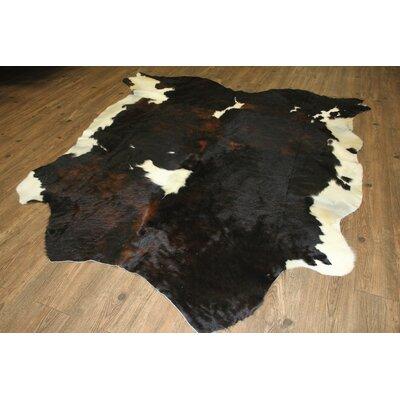 Thalia Hand-Woven Cowhide Brown/Black Area Rug