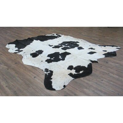 Valora Hand-Woven Cowhide Black/Off-White Area Rug