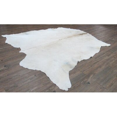 Ashville Hand-Woven Cowhide Off White Area Rug