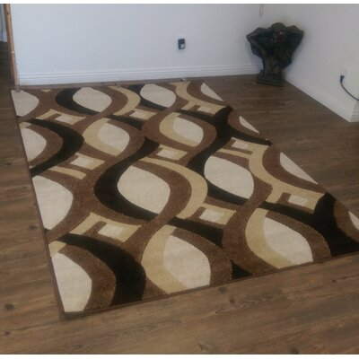 LifeStyle Brown/Beige Indoor/Outdoor Area Rug Rug Size: 8 x 11