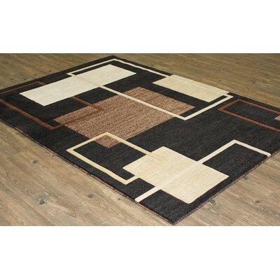 LifeStyle Black Indoor/Outdoor Area Rug Rug Size: 8 x 11