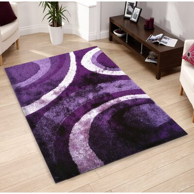 Lo-La Hand-Tufted Purple Indoor/Outdoor Area Rug Rug Size: 5 x 7