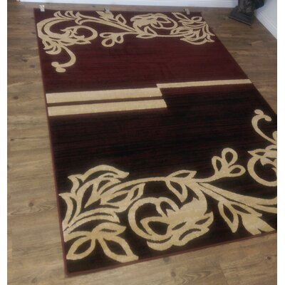 Lifestyle Burgandy Indoor/Outdoor Area Rug Rug Size: 5' x 8'