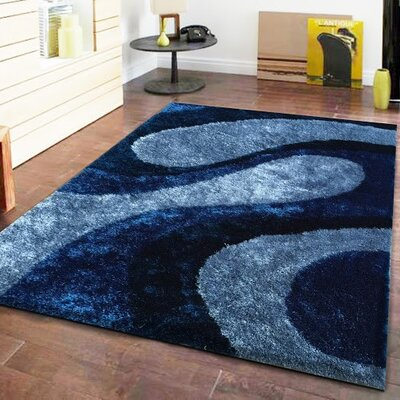 Lo-La Hand-Tufted Blue Indoor/Outdoor Area Rug Rug Size: 5 x 7