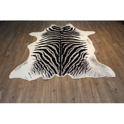 Faux Zebra Handmade Black/White Indoor Area Rug