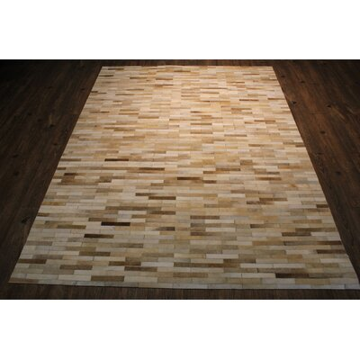 One-of-a-Kind Beldon Hand-Woven Beige Area Rug