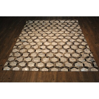Cloverdale Silver/Gray Area Rug Rug Size: Rectangle 5 x 7