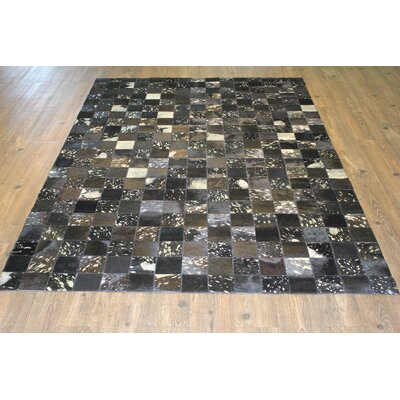 Petrillo Handmade Cowhide Silver Area Rug Rug Size: Rectangle 5 x 7