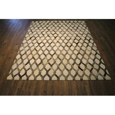 One-of-a-Kind Gothenburg Hand-Woven Cowhide Brown/Beige Area Rug
