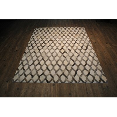 Petrin Handmade Cowhide Gray Area Rug Rug Size: Rectangle 76 x 96