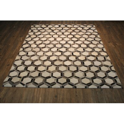 One-of-a-Kind Clawson Hand Woven Dark Gray/Brown Area Rug