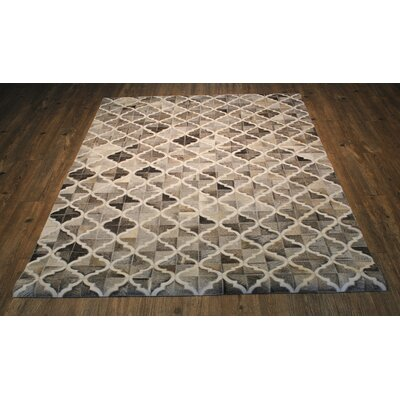 One-of-a-Kind Knopf Hand-Woven Cowhide Brown/Beige Area Rug