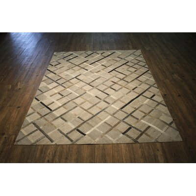 One-of-a-Kind Kopec Hand Woven Sliver/Brown Area Rug