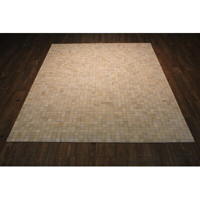 Petersen Handmade Ivory/Slate Gray Area Rug Rug Size: Rectangle 76 x 96