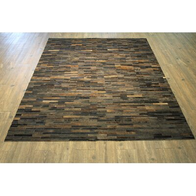Peters Handmade Cola Brown Area Rug Rug Size: Rectangle 76 x 96