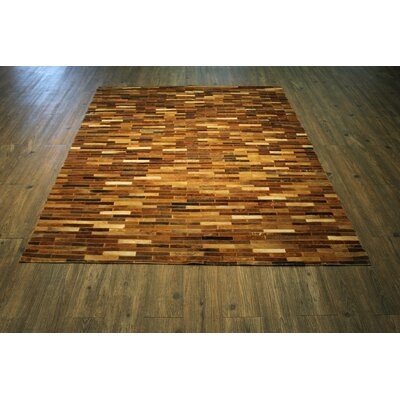 Bilodeau Hand-Woven Tan Brown Area Rug Rug Size: Rectangle 76 x 96