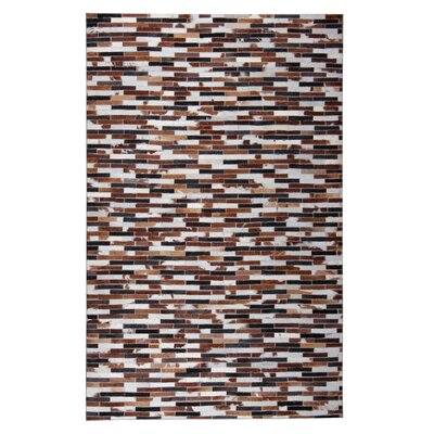 Darrion Hand-Woven Dark Brown/Black Area Rug
