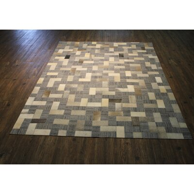 Tyquan Hand-Woven Gray/Beige Area Rug