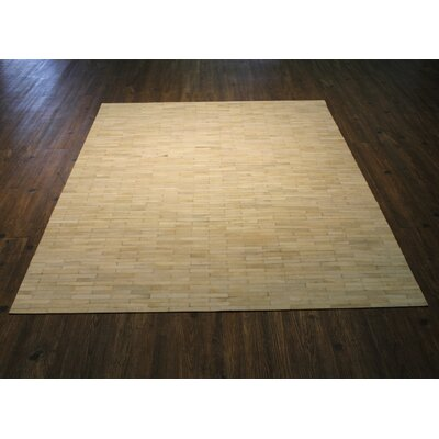 Tommen Hand-Woven White/Beige Area Rug