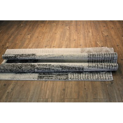 Hirschman Gray/Tan Area Rug Rug Size: Rectangle 710 x 106