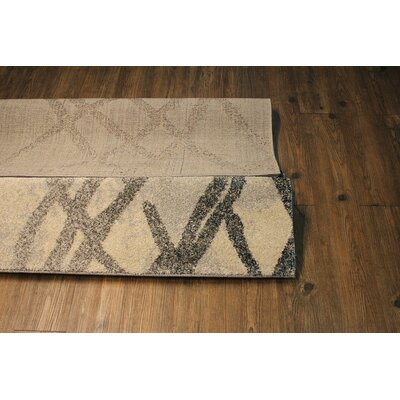 Contemporary Beige Area Rug Rug Size: Rectangle 710 x 106