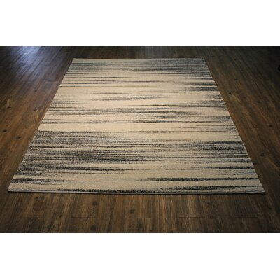 Gaylor Gray/Beige Area Rug Rug Size: Rectangle 54 x 75
