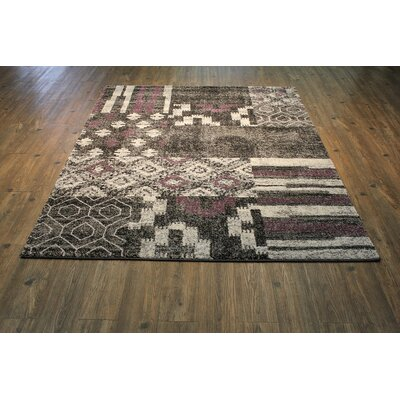 Garceau Black/Purple Area Rug Rug Size: Rectangle 75 x 53