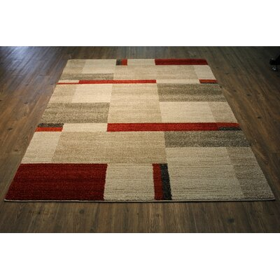 Francisca Beige/Red Area Rug