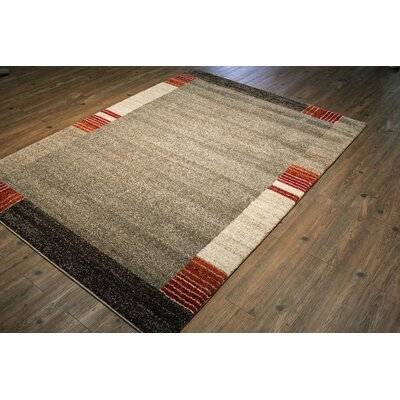 Francisca Silver/Gray Area Rug Rug Size: Rectangle 75 x 53