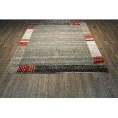 Freeman Brown/Red/Ivory Area Rug