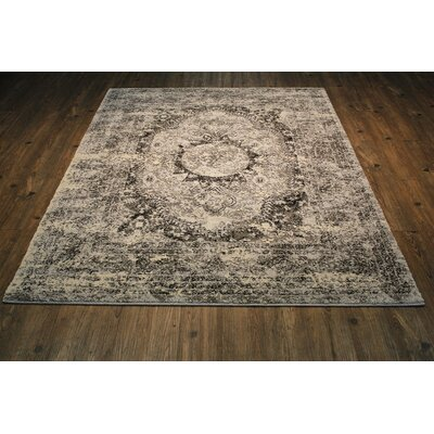 Harrill Gray/Beige Area Rug Rug Size: Rectangle 54 x 75