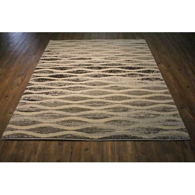 Andrew Gray/Beige Area Rug Rug Size: Rectangle 75 x 53
