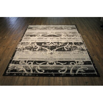 Van Horne Black/Tan Area Rug Rug Size: Rectangle 710 x 106