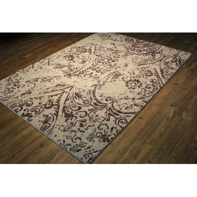 Edmon Lavender/Beige Area Rug Rug Size: Rectangle 106 x 710