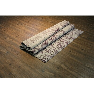Edmon Purple/Beige Area Rug