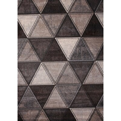 Gray/Ivory Area Rug Rug Size: Rectangle 54 x 75
