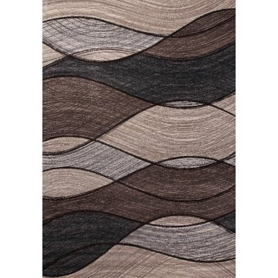 Etchison Gray/Chocolate Area Rug Rug Size: Rectangle 54 x 75