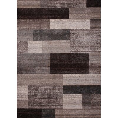 Chocolate/Ivory Area Rug Rug Size: Rectangle 54 x 75
