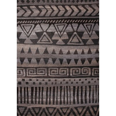 Giambrone Dark Gray/Beige Area Rug Rug Size: Rectangle 54 x 75