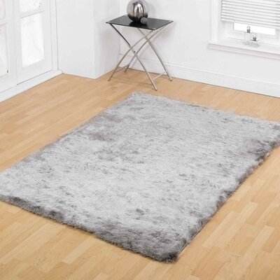 Chaparro Shag Hand-Tufted Gray Area Rug