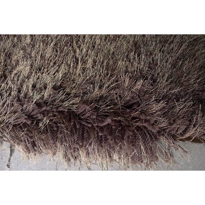 Huynh Shag Hand-Tufted Brown Area Rug