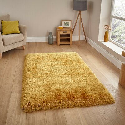 Chapdelaine Shag Hand-Tufted Gold Area Rug