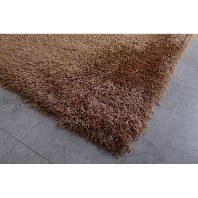 Chapple Shag Hand-Tufted Light Brown Area Rug