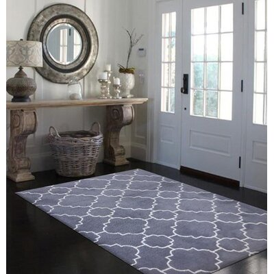 Baltasar Contemporary Handmade Gray/White Area Rug